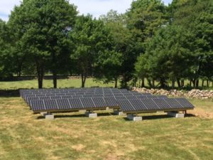westport massachusetts residential ground mount solar installation