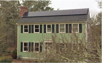 MGE cape cod solar residential installation chatham ma