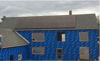 MGE residential solar installation natick ma