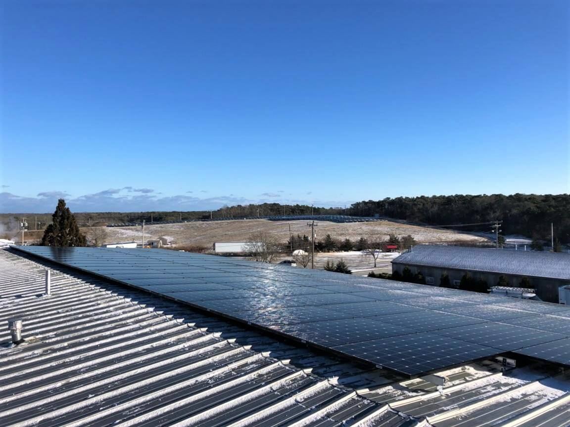 Cape Cod commercial solar array in Orleans, Massachusetts. Installed by My Generation Energy