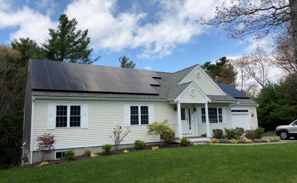 Falmouth Cape Cod residential solar installation My Generation Energy