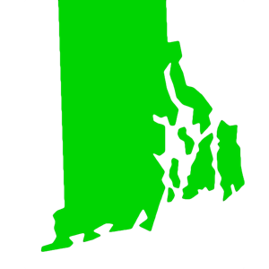Rhode Island state icon in green