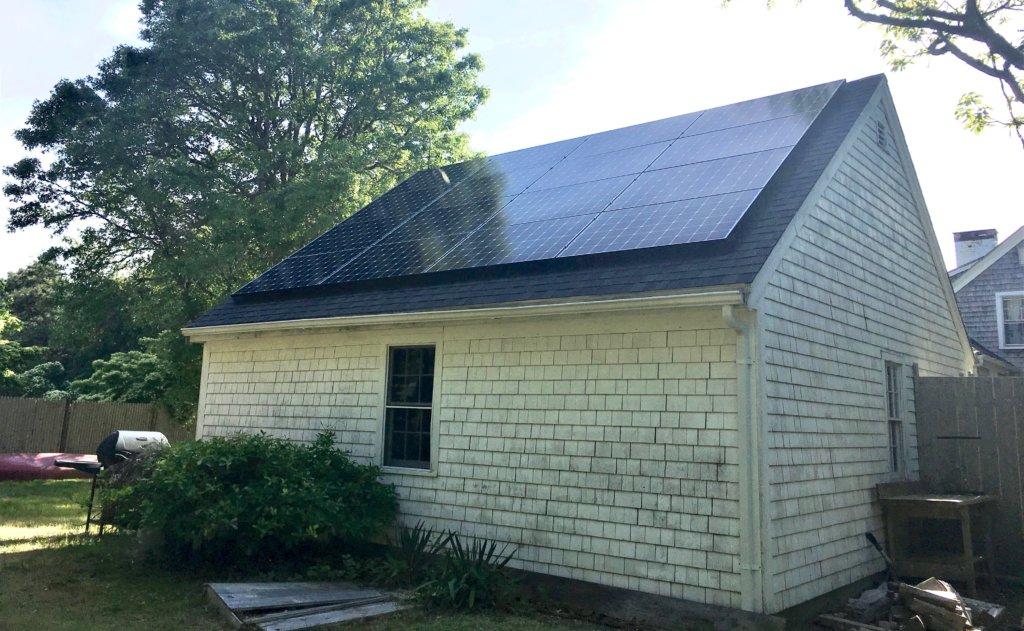 Solar array on a home in Harwich, MA. Cape Cod solar company My Generation Energy installed this system.
