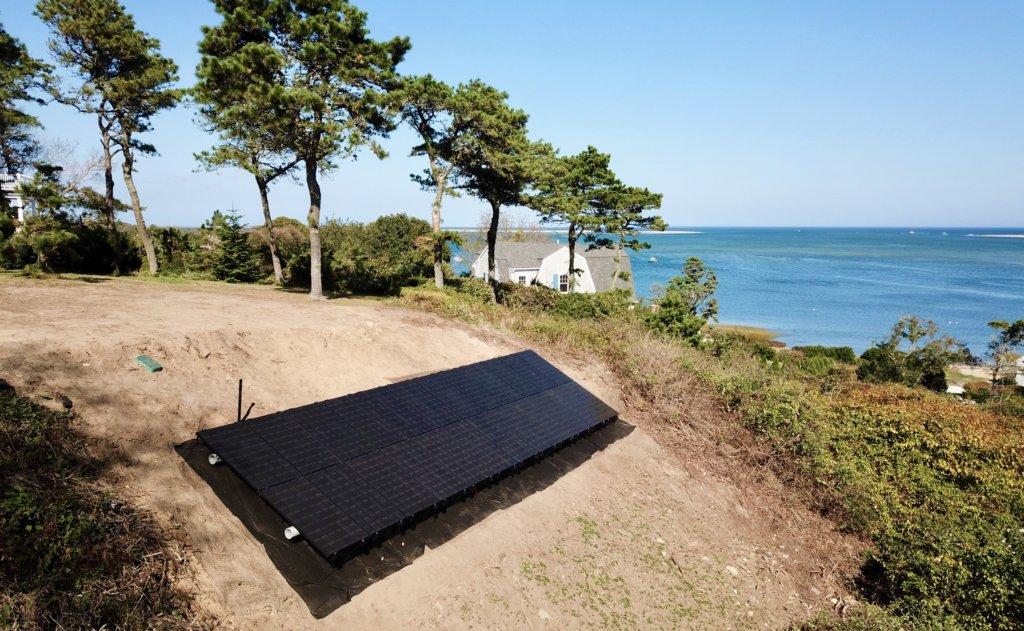 chatham ground mount solar installation by my Generation Energy