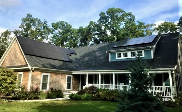 rooftop solar installation in orleans Massachusetts by My Generation Energy