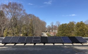 Hingham High School's solar array, donated by My Generation Energy, a Massachusetts solar installer