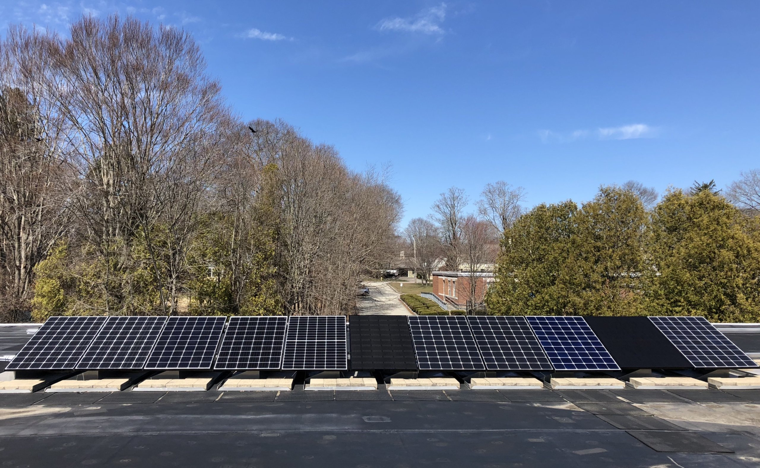 Hingham High School's solar array, donated by My Generation Energy, a Massachusetts solar installer