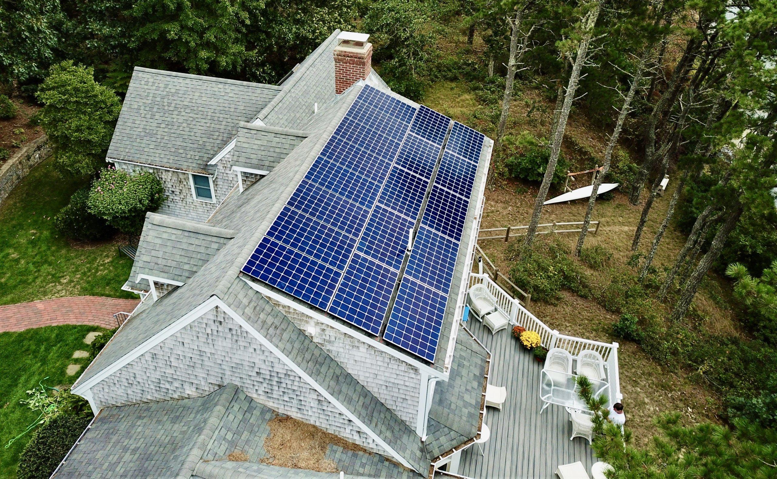 brewster cape cod residential solar installation by my generation energy