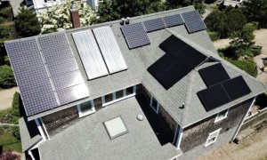 7 solar panels were added to this homeowner's existing array to cover their energy usage. Installation by My Generation Energy, Cape Cod Massachusetts