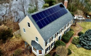 Medfield residential solar installation completed by My Generation Energy in Greater Boston.