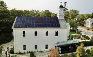 Wellfleet Preservation Hall commercial solar installation by My Generation Energy