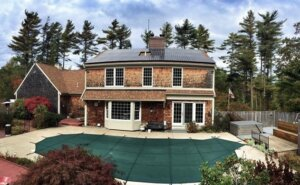 This home's solar installation paid for itself in just 4.5 years! Residential solar installation in Plymouth, Massachusetts. Installed by My Generation Energy.