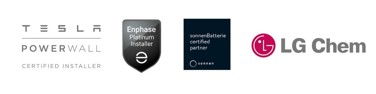 solar battery logos tesla sonnen enphase LG