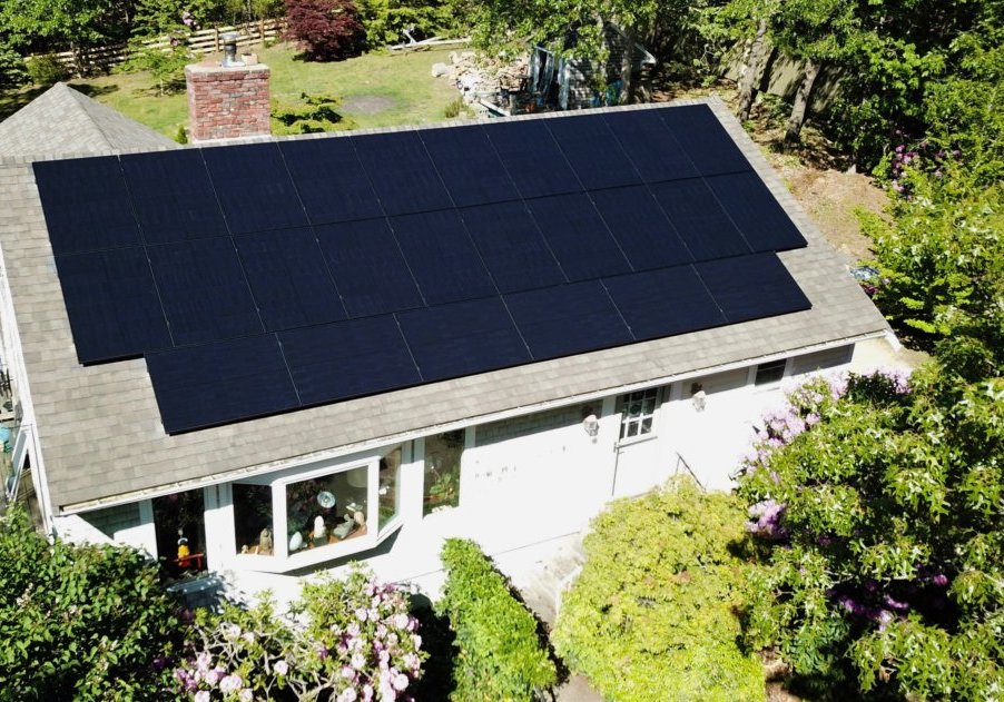 A home in Chatham MA (on Cape Cod) with solar panels.