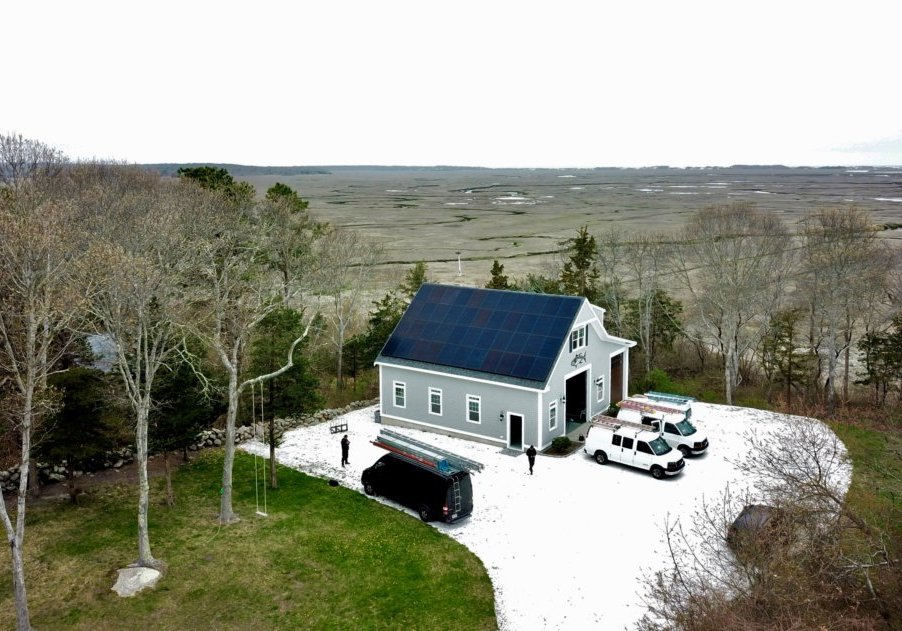 Solar Installation in Barnstable (on Cape Cod) by My Generation Energy
