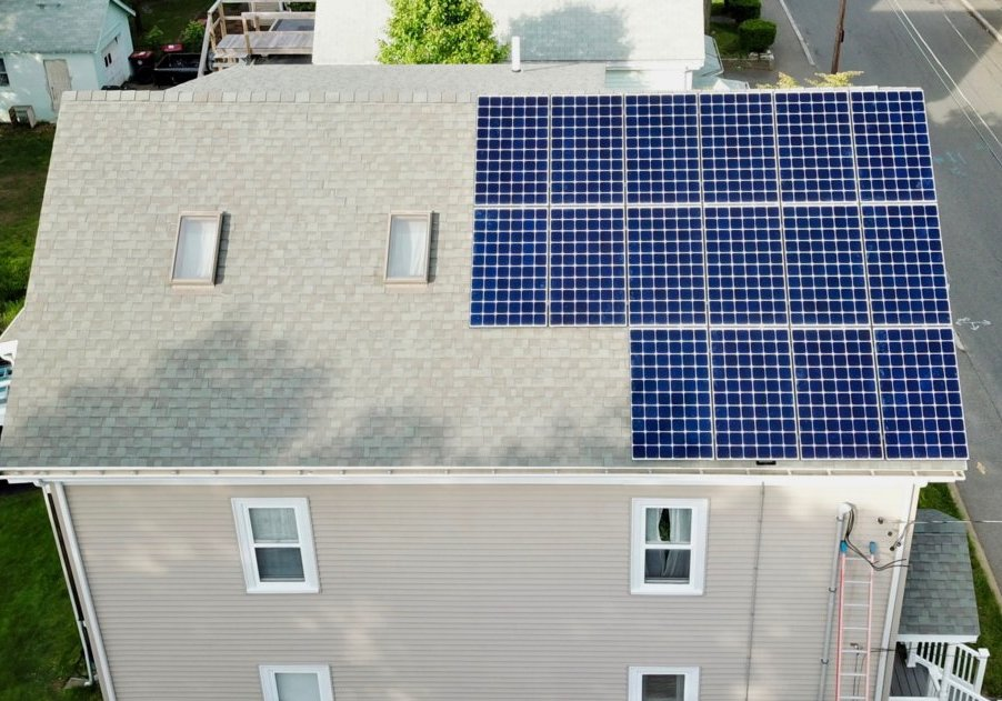 A Brockton, MA home (in Greater Boston) with a solar array installed by My Generation Energy.