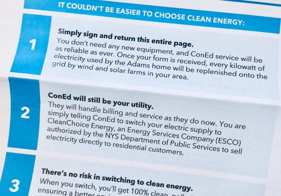 3rd party clean energy provider letter to customer