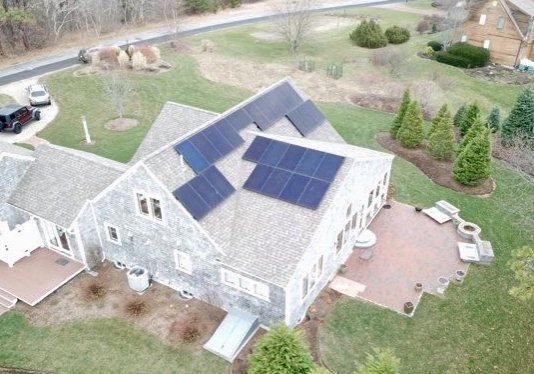 My Generation Energy installed this solar array on a home in Eastham, Massachusetts