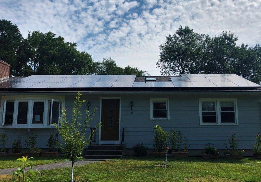 Narragansett solar installation by My Generation Energy. Rhode Island solar installer.